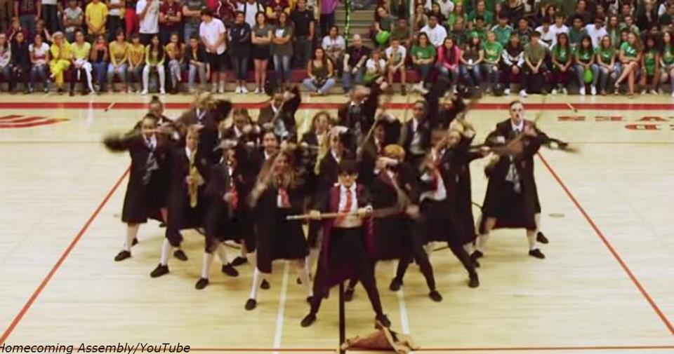Весь сюжет Гарри Поттера в одном танце   потрясающее видео от обычных школьников У них уже больше 4 млн просмотров на YouTube!