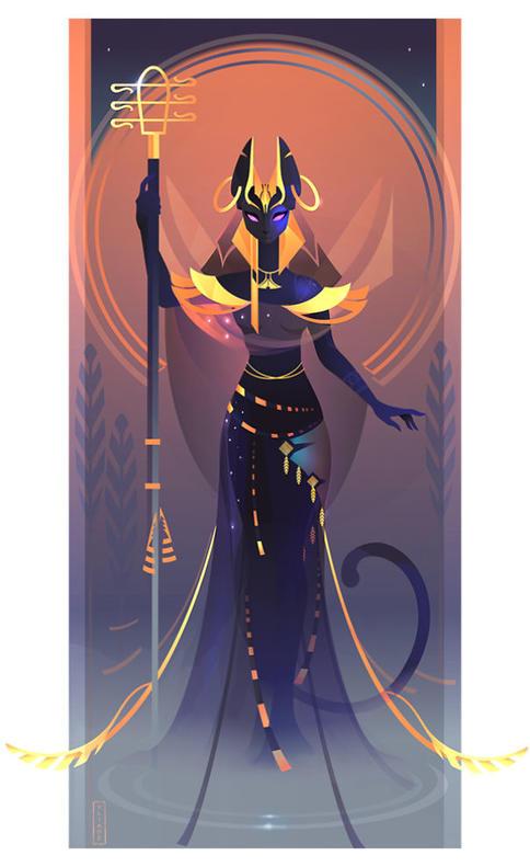 Я нарисовала всех богов Древнего Египта. Как вам? Очень эффектно!