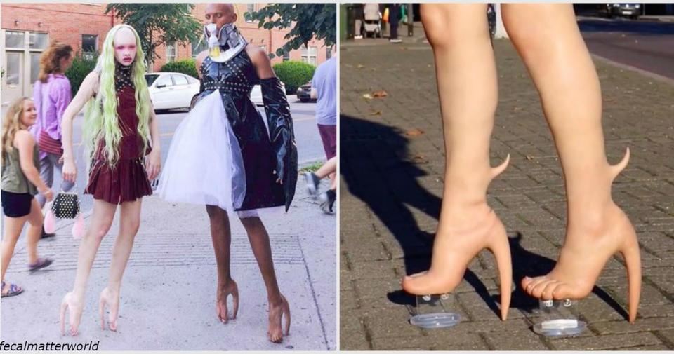 Теперь вы можете купить каблуки из ″человеческой кожи″ за USD 10 000! Или заказать точную копию своих мутировавших ног.