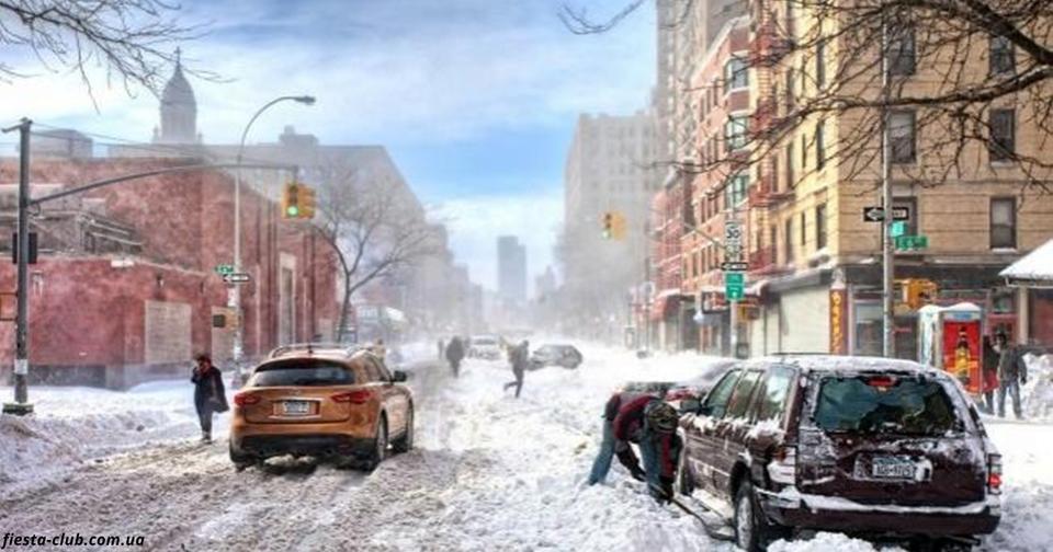 Из за первого снега власть в Украине объявила штормовое предупреждение Зима уже здесь.