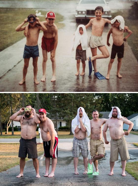 27 раз, когда кто-то воссоздал свои старые семейные фото — и получилось лучше оригинала! Отличная традиция!