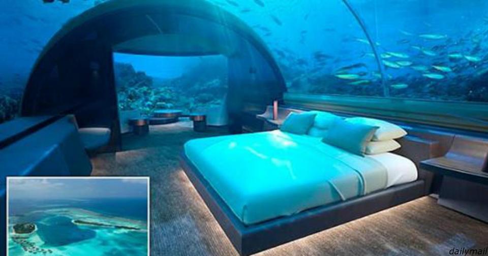 Первый в мире подводный отель наконец то открыли на Мальдивах. Но цена   космос! Подводная виртуальная реальность.
