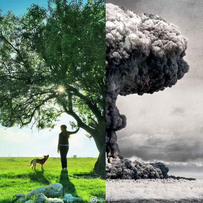 Я показываю душераздирающий контраст между 2 мирами, в которых мы живем Просто нет слов...
