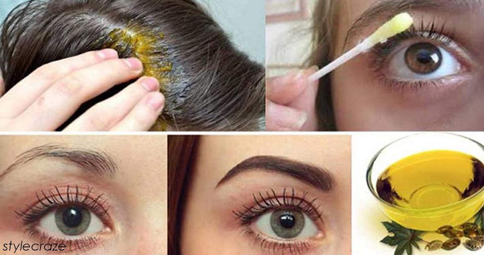 Как использовать касторовое масло для роста волос, ресниц и бровей Несколько простых рецептов.