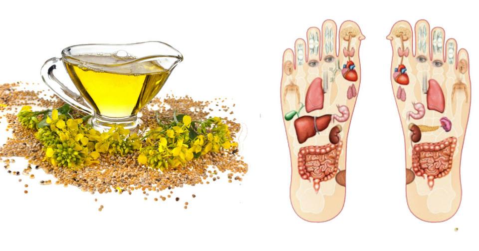 Втирайте горчичное масло в стопы ног! Вот какие преимущества это дает Эффект поразительный!