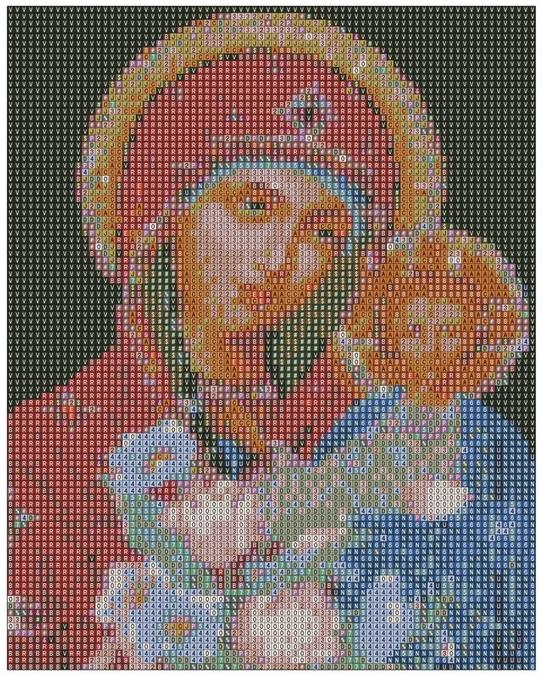 Выбор схемы вышивок икон крестом