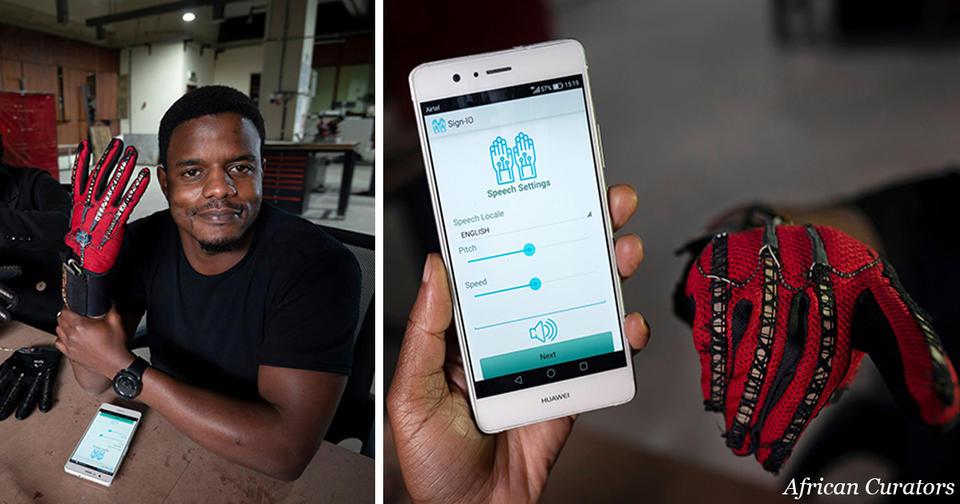 25 летний изобретатель из Кении сделал перчатки, которые переводят в голос язык жестов