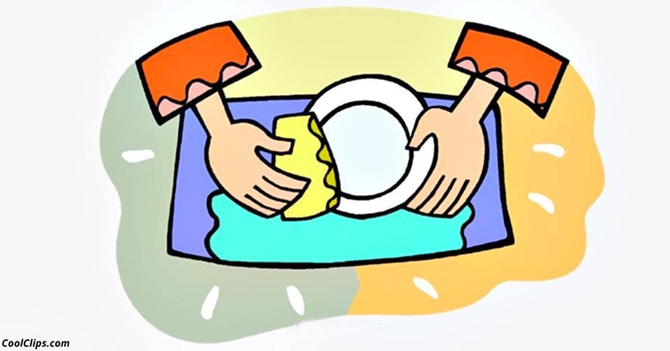 Картинка мыть посуду для детей