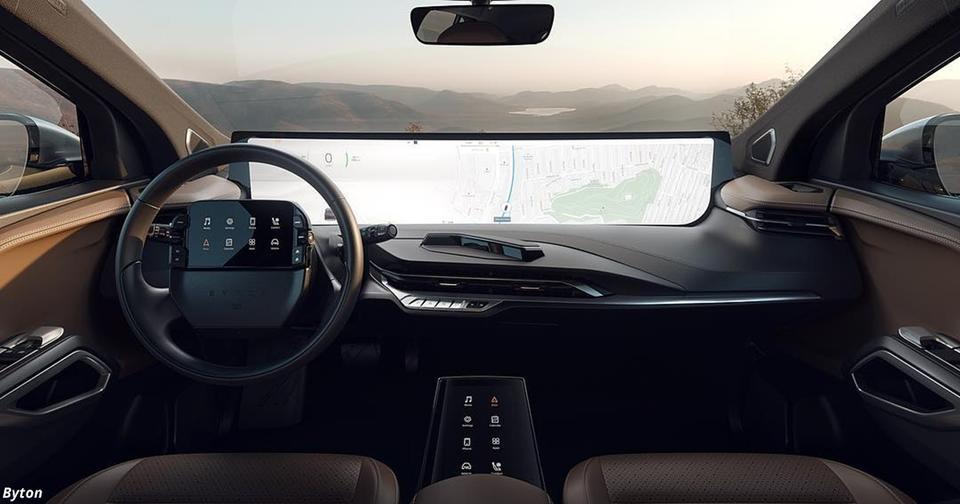 Этот конкурент Tesla использует 48-дюймовый дисплей на панели