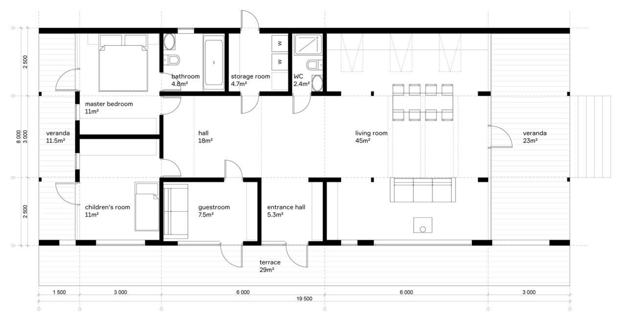 Этот сборный домик можно построить за 10 дней — и всего за USD80 000