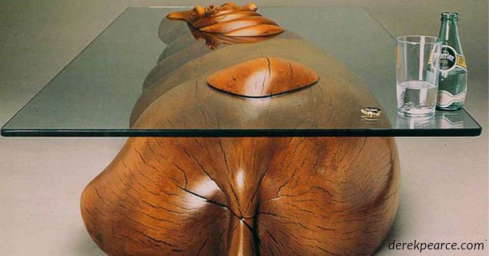 Уникальные столы, разработанные так, что их надо ставить наполовину в воду