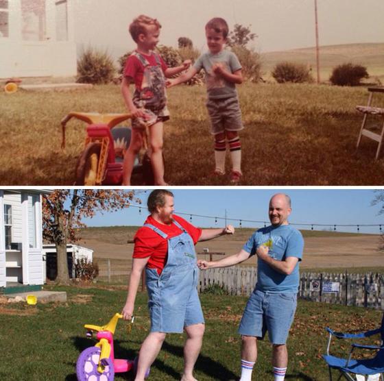 25 самых удачных попыток воссоздать детские фотографии