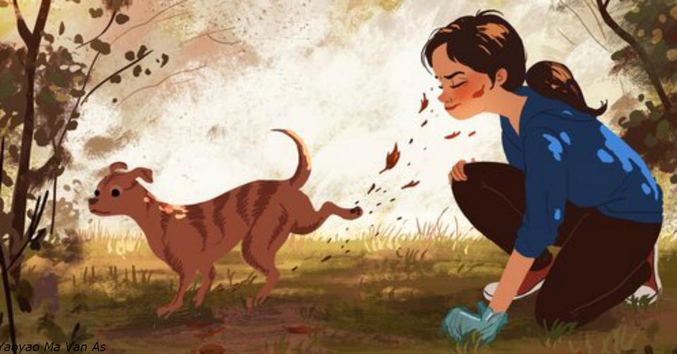 15 трогательных иллюстраций о том, почему собаки   лучшие соседи на свете
