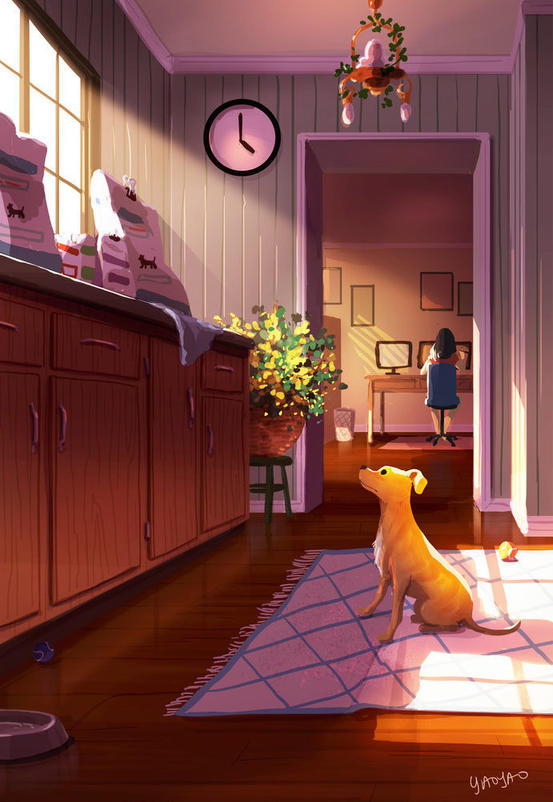 15 трогательных иллюстраций о том, почему собаки - лучшие соседи на свете