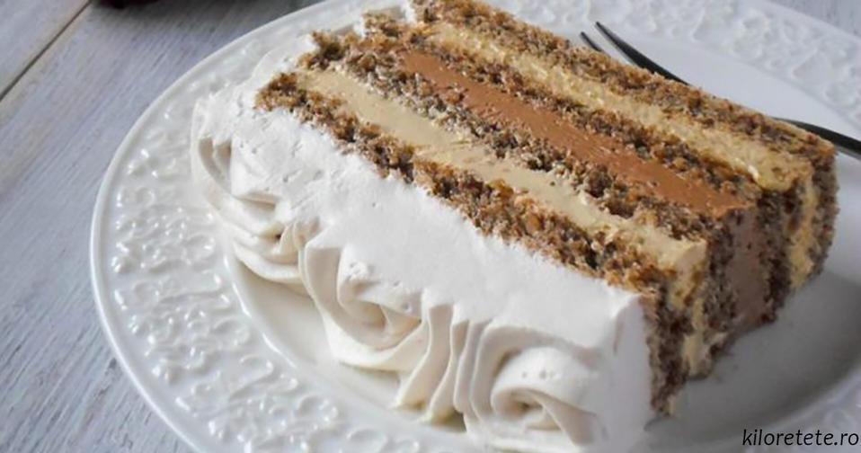 Сладкий, ароматный и с изюминкой: ореховый торт с кофе и сливками