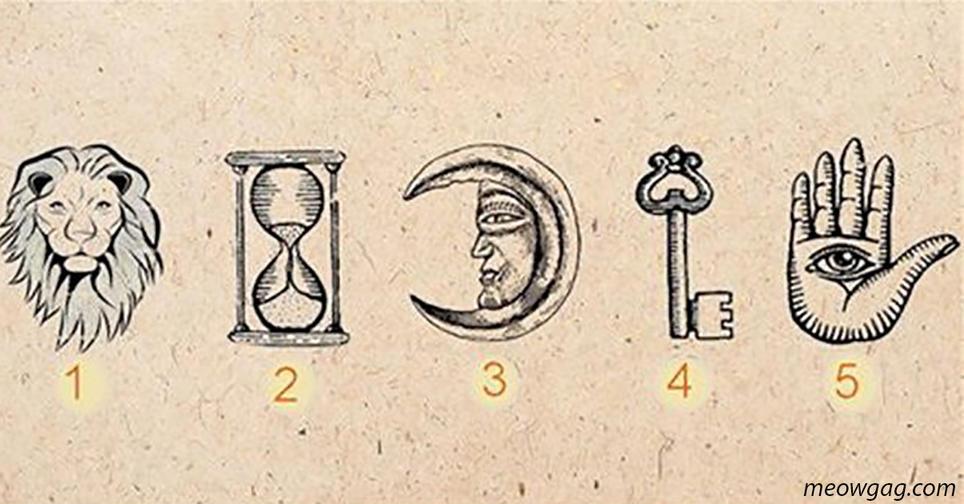 Выберите 1 из 5 символов   и мы раскроем всю подноготную вашей души