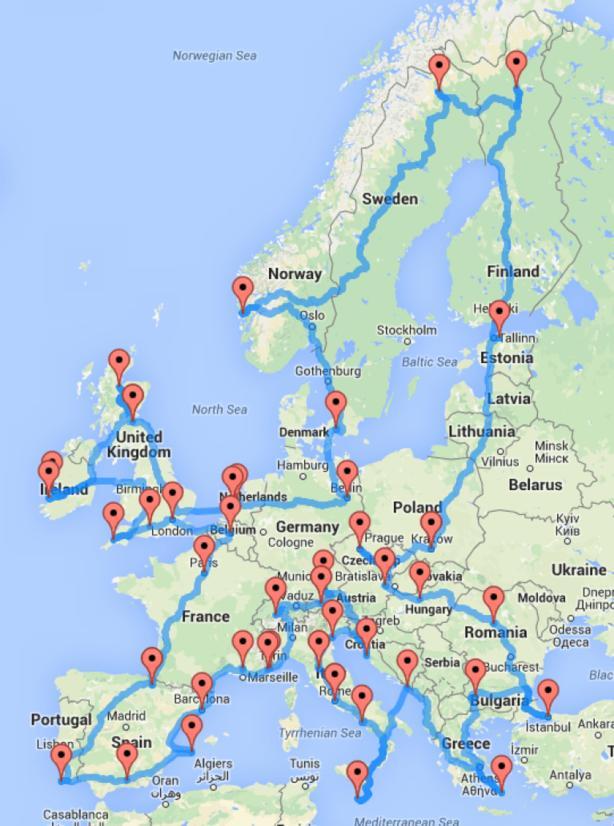 Вот самый грамотный маршрут из серии ″Европа на машине″, чтобы посмотреть ее ВСЮ