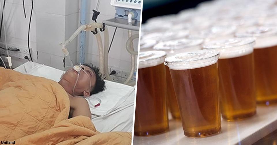 Вьетнамские врачи спасли мужчину, влив в него 15 банок пива