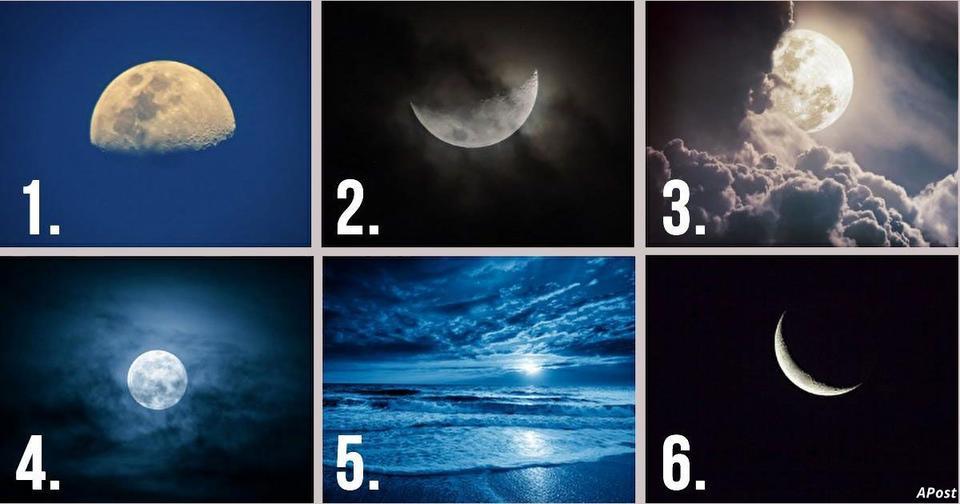 Какая Луна на картинке вам нравится больше всего? Ответ раскроет черты вашего характера