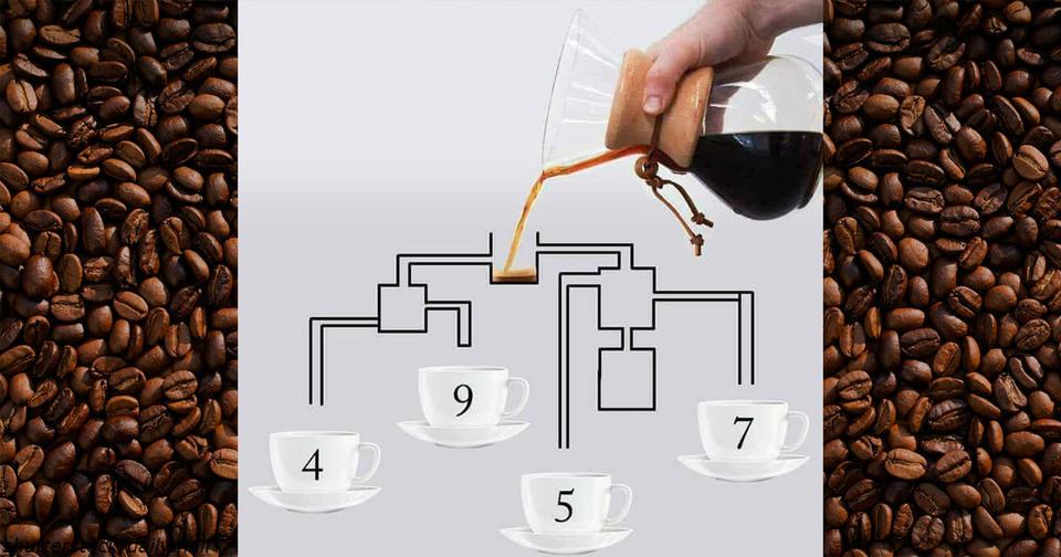 В какую чашку кофе нальется быстрее?