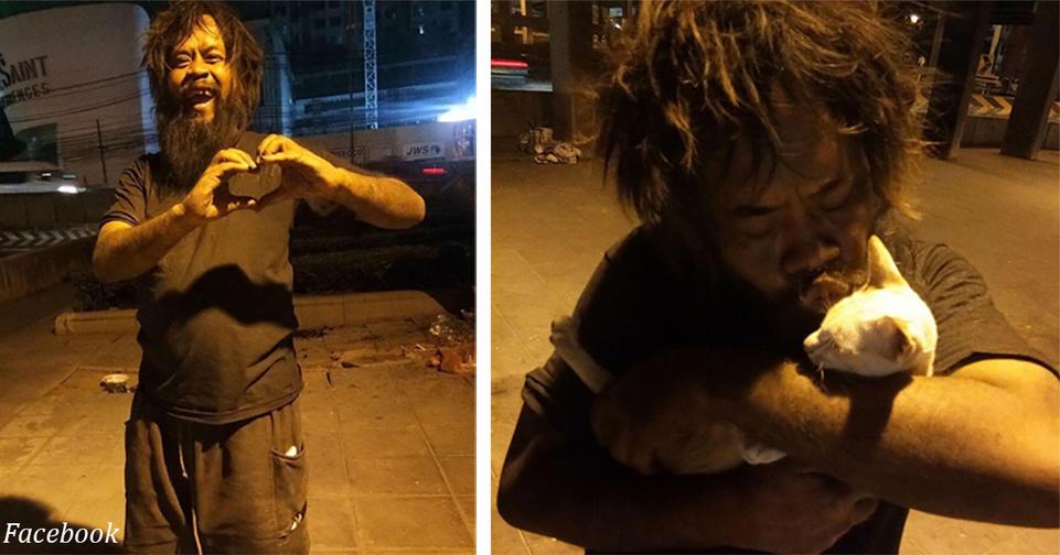 Бездомный каждый день покупал еду кошкам   и вдохновил весь мир