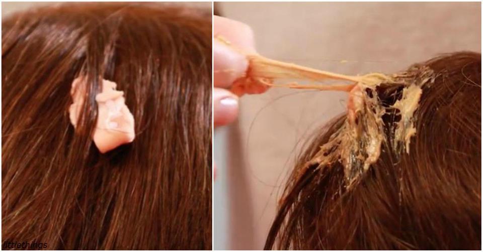 Вот как безболезненно и без жертв удалить жвачку с волос