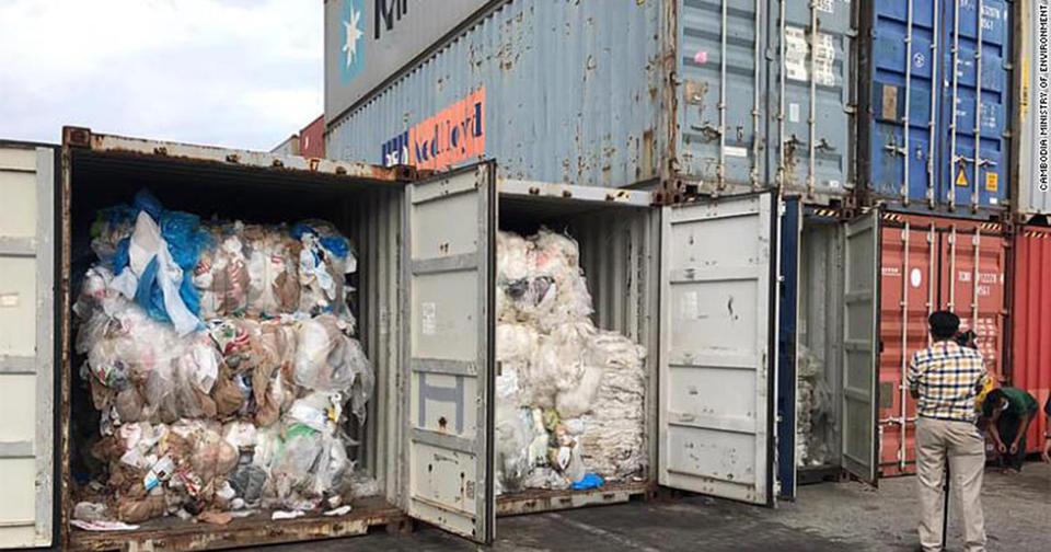 Камбоджа отправит пластиковые отходы обратно в США и Канаду