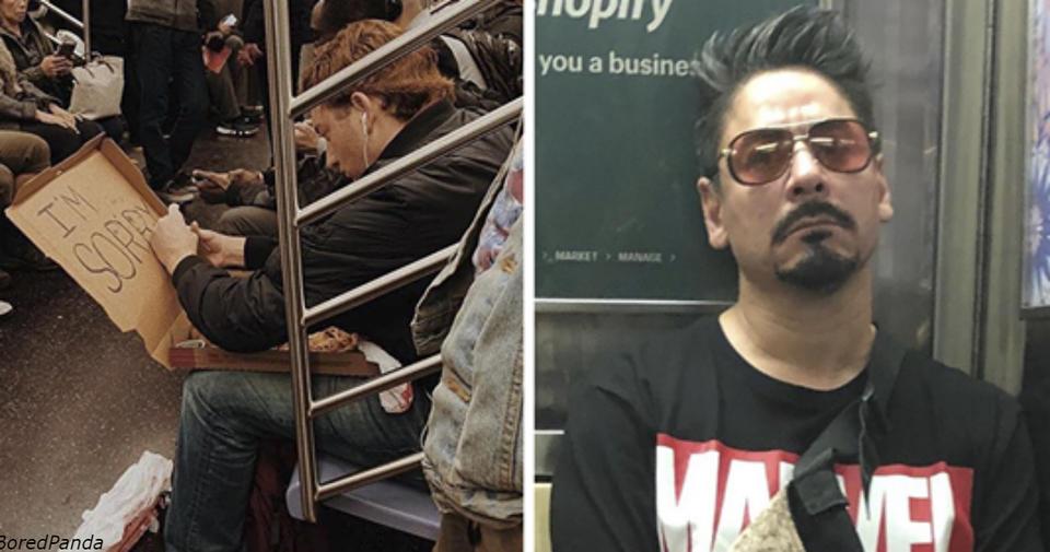 30 странных и забавных вещей, которые кто то увидел в метро