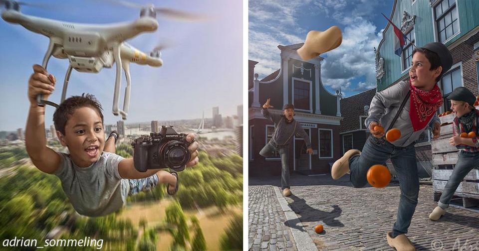 Нет, это не картины, а фотографии голландского художника. Но разве они не прекрасны?
