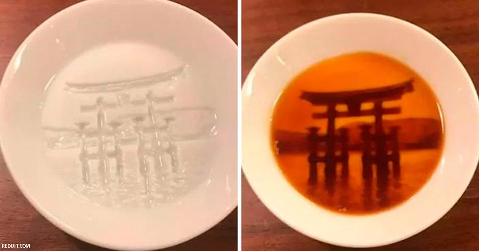 После появления соуса в этих тарелках появляются целые ″картины″