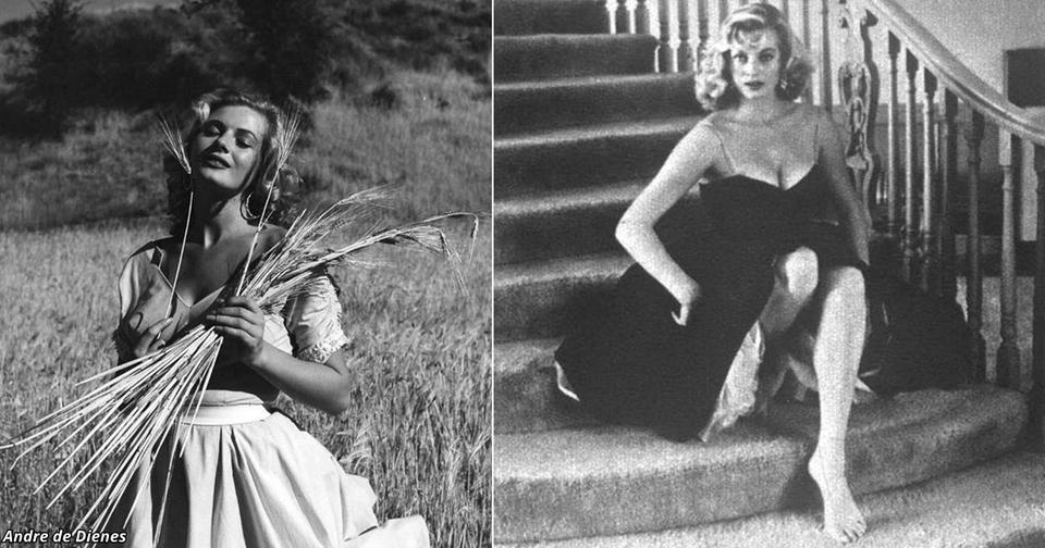 30 «запретных» фото Аниты Экберг, которые показывают, что считалось «клубничкой» в 1954 году
