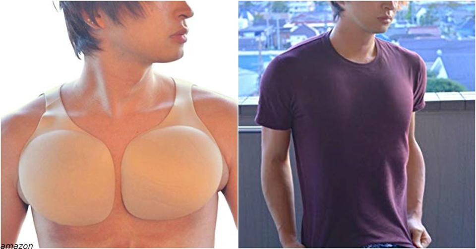 Японцы стали продавать накладки для красивой мужской груди   и они дико популярны