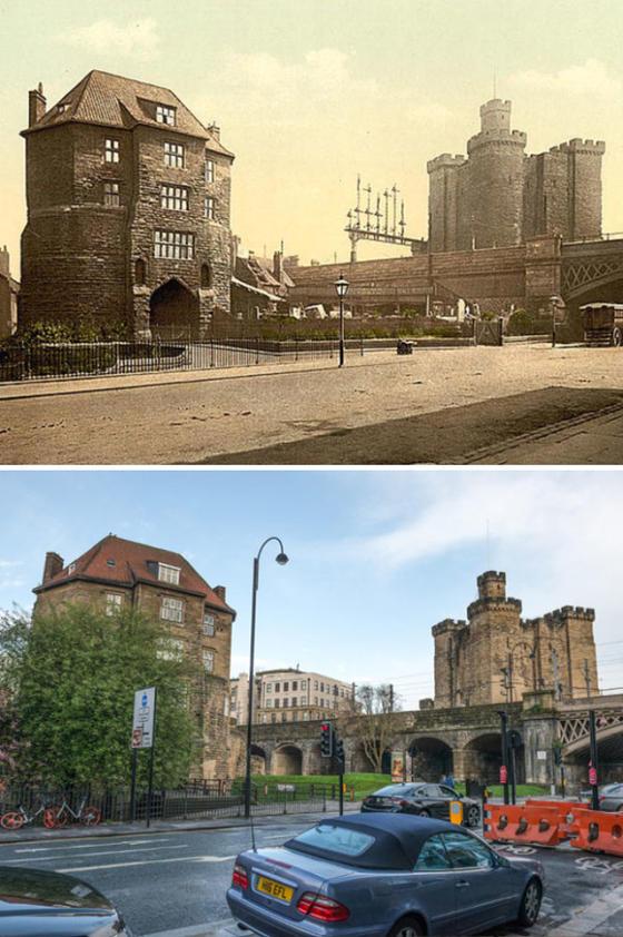 Фото ДО и ПОСЛЕ, которые показывают 125-летнюю трансформацию английских городов