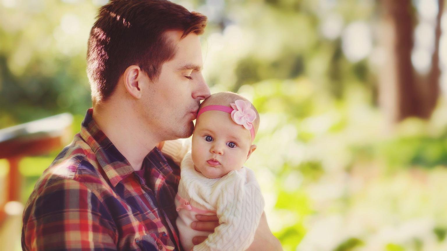 Картинка днем, картинки с новорожденным девочкой с папой