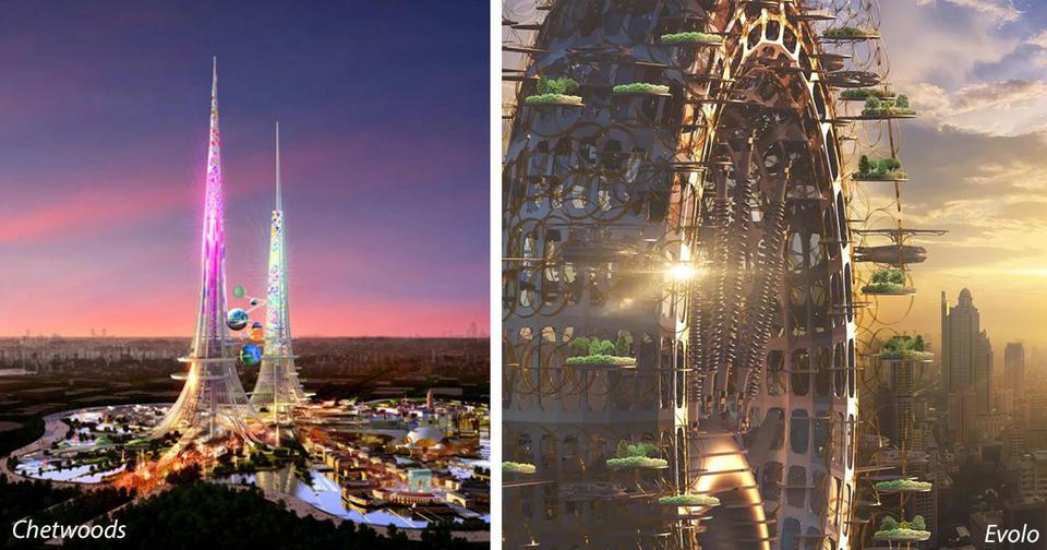13 самых странных небоскрёбов мира, которые задумало построить человечество
