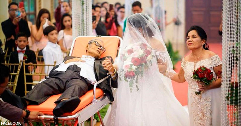 Прикованный к постели отец всё же смог попасть на свадьбу дочери