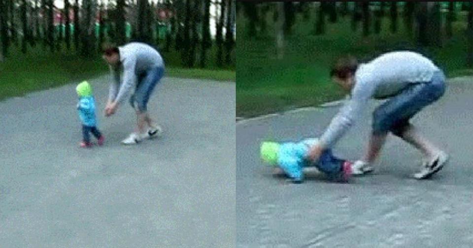 18 раз, когда папа доказал: когда речь идет про детей, скорость реакции поражает!
