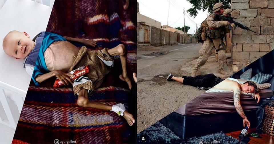 13 фото, на которых я показываю контраст между мирами, в которых мы живем