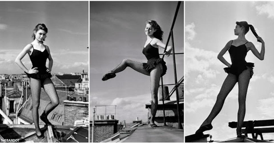 15 потрясных фото 18-летней Бриджит Бардо, танцующей на крыше в Париже