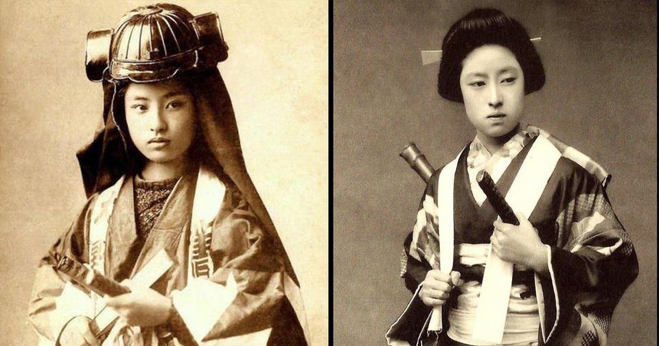 Женщины-самураи увековечены в японских фото XIX века