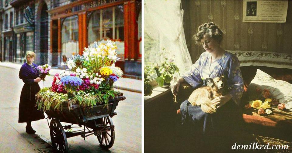 50 самых старых цветных фото, показывающих, как выглядел мир 100 лет назад