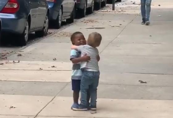 Друзья-малыши обнимаются так, будто не виделись годы. Но прошло только 2 дня...