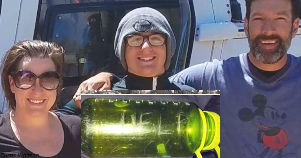 Туристы нашли бутылку с просьбой о помощи   и спасли семью из 3 человек