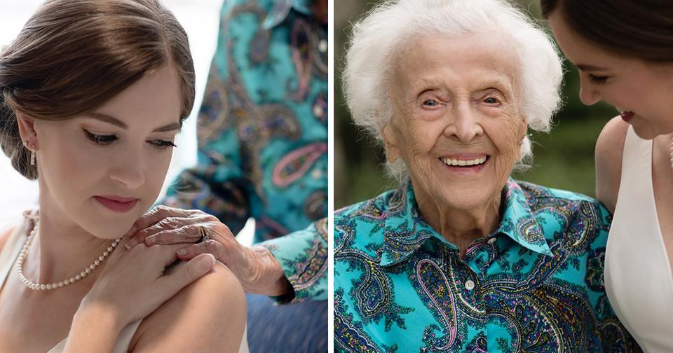 Невеста тайно прилетела навестить свою бабушку в свадебном платье. Вот ее реакция