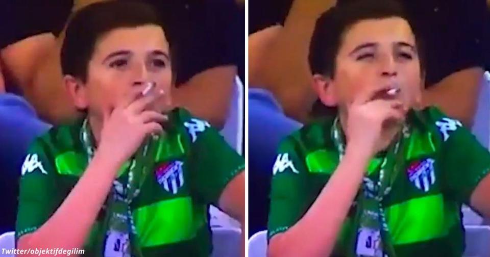 Мальчиком, пойманным курящим на стадионе, на самом деле оказался 36 летний отец