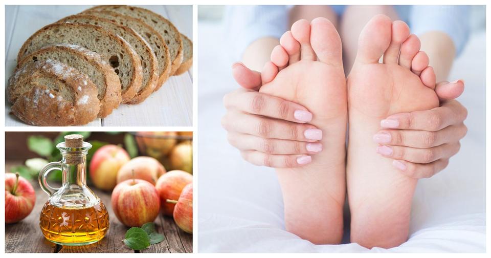 Вот что будет, если вокруг ноги обернуть хлеб с яблочным уксусом