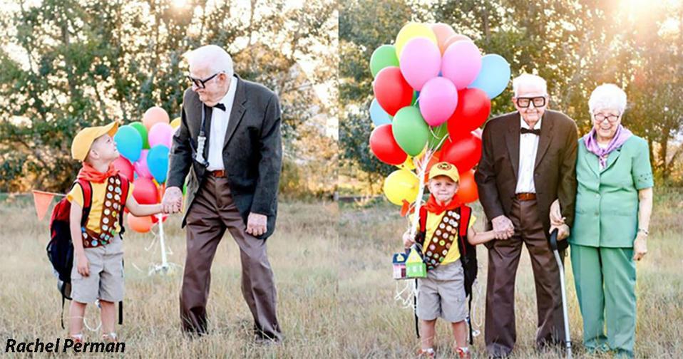Фотосессия 5 летнего мальчика и его 90 летних прабабушки и прадедушки покорила миллионы