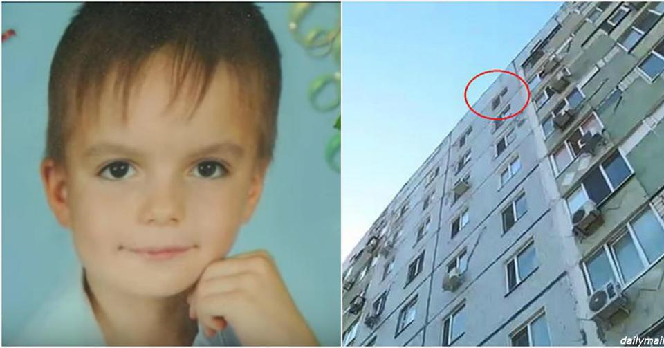 8 летний украинец выпрыгнул с окна 9 этажа, спасаясь от родителей