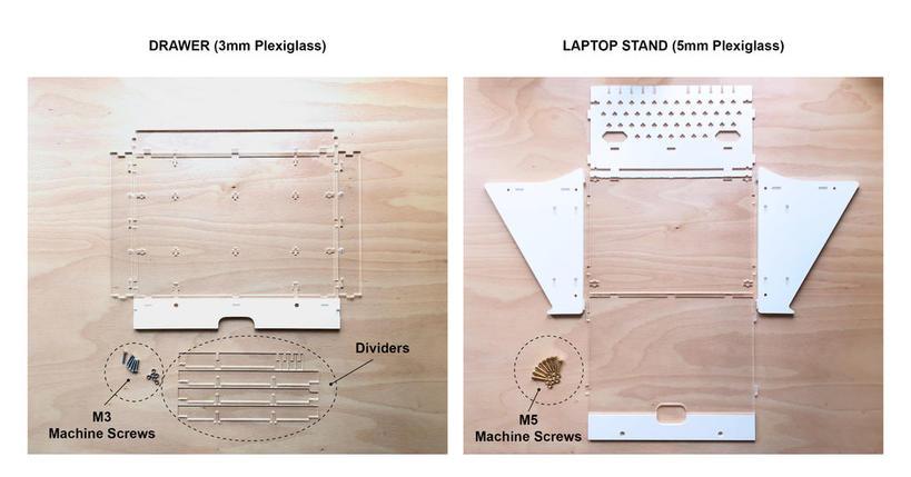 Муж сделал функциональный органайзер 3 в 1: это подставка для ноутбука с док-станцией и ящиком для канцелярских принадлежностей