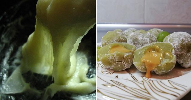Пока была в Японии, научилась готовить у местных диетические печенья моти, похожие на нашу картошку, только с меньшим количеством калорий